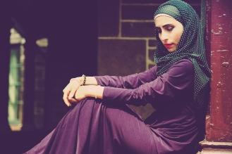Tiny Polka Dotted Scarf by That Hijabi | Model/Blogger: Yomna (somecreativemind.wordpress.com) | Dress: Kotyur | Jewelry by Emme Kay | Makeup by Zeba | Photography: Alica Kwoka