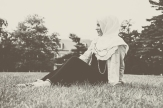 White & Maroon Ruffle by That Hijabi | Model/Blogger: Xeenah (xeenah.com) |Makeup by Zeba |Photography: Alica Kwoka