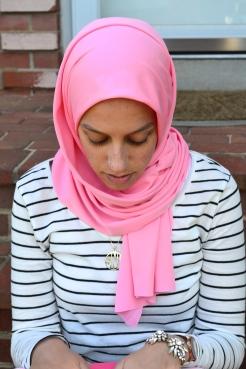 Rose Pink Jersey by That Hijabi | Model : Samirah Nabbus